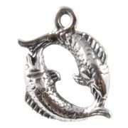 Pisces The Fish 3D Zodiac Sterling Silver Charms